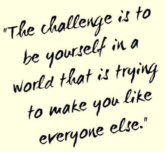 challenge be yourself